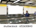 people looking blank billboard...   Shutterstock . vector #652630843