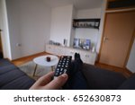 man sitting at home and... | Shutterstock . vector #652630873