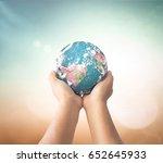 world environment day concept ...   Shutterstock . vector #652645933