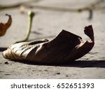 macro photo of a dry leaf | Shutterstock . vector #652651393