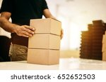 boxing products ready for... | Shutterstock . vector #652652503