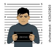mugshot of evil criminal  flat... | Shutterstock .eps vector #652652803