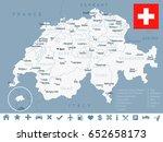 switzerland map and flag  ...   Shutterstock .eps vector #652658173