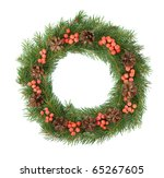 christmas green framework... | Shutterstock . vector #65267605