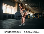 female athlete training with... | Shutterstock . vector #652678063