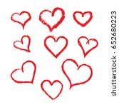 hand drawn heart vector symbol... | Shutterstock .eps vector #652680223
