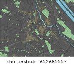 vienna vector map with dark... | Shutterstock .eps vector #652685557