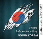 south korea independence day... | Shutterstock .eps vector #652710817