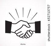 icon handshake symbol. designed ... | Shutterstock .eps vector #652713757