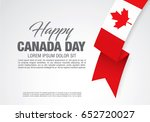first of july canada day ... | Shutterstock .eps vector #652720027