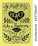 hand lettering merry heart does ... | Shutterstock .eps vector #652730647