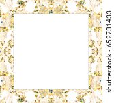 rectangular frame of stained... | Shutterstock . vector #652731433