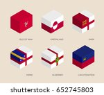 set of isometric 3d boxes with... | Shutterstock .eps vector #652745803