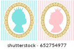 silhouettes of little princess... | Shutterstock .eps vector #652754977