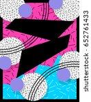 vibrant memphis style banner ... | Shutterstock . vector #652761433