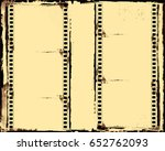 grunge frame or distressed... | Shutterstock .eps vector #652762093