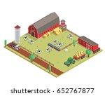 modern isometric organic farm... | Shutterstock .eps vector #652767877
