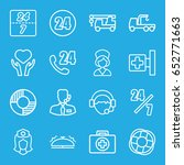 assistance icons set. set of 16 ... | Shutterstock .eps vector #652771663