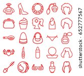 glamour icons set. set of 25... | Shutterstock .eps vector #652777567