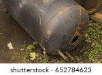 old rusty barrel of a boiler... | Shutterstock . vector #652784623