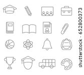 simple flat education line icons | Shutterstock .eps vector #652800373