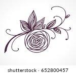 rose flower. decorative floral...   Shutterstock .eps vector #652800457