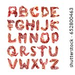 collection meat alphabet. fresh ... | Shutterstock . vector #652800463