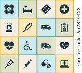 medicine icons set. collection... | Shutterstock .eps vector #652810453