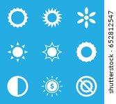 sunlight icons set set of 9