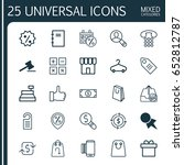 commerce icons set. collection... | Shutterstock .eps vector #652812787