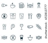 cafe icons set. collection of... | Shutterstock .eps vector #652813777
