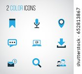 internet colorful icons set.... | Shutterstock .eps vector #652813867