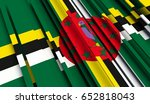 fragment flag of dominica. 3d...   Shutterstock . vector #652818043