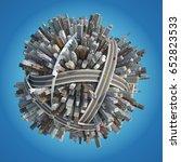 planet city   Shutterstock . vector #652823533