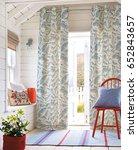 beautiful living room in new... | Shutterstock . vector #652843657