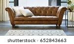 beautiful living room in new... | Shutterstock . vector #652843663