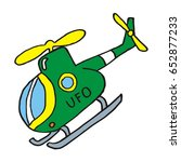 helicopter  vector illustration | Shutterstock .eps vector #652877233