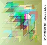 direction art pattern | Shutterstock .eps vector #652881373