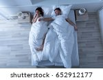 elevated view of young couple... | Shutterstock . vector #652912177