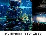 sea aquarium  singapore   april ... | Shutterstock . vector #652912663