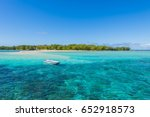 tourist boat sailing along... | Shutterstock . vector #652918573