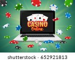 online casino banner with a... | Shutterstock .eps vector #652921813