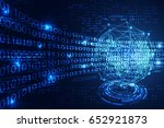 abstract technology concept... | Shutterstock .eps vector #652921873