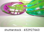 abstract dynamic interior with... | Shutterstock . vector #652927663