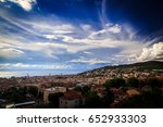 a big storm approaching the... | Shutterstock . vector #652933303