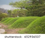 Small photo of Tombstone and graveyard of Chinese people