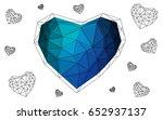 light blue  green vector heart...