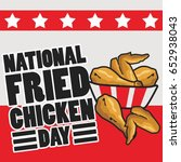 national fried chicken day... | Shutterstock .eps vector #652938043