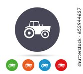 tractor sign icon. agricultural ... | Shutterstock .eps vector #652944637