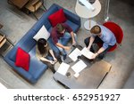 three people working with... | Shutterstock . vector #652951927